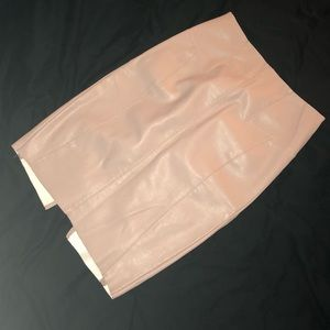 Express Skirts - Blush Pink (Minus The) Leather Pencil Skirt